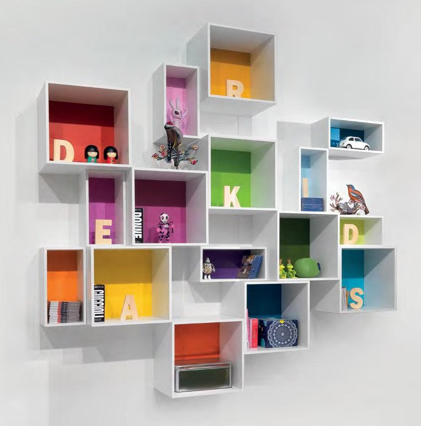Cubo librerie e scaffali belv camerette torino for Libreria cubi ikea