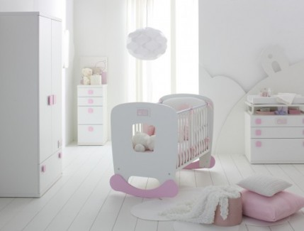 Camerette per Bebè Torino - Dondolo rosa