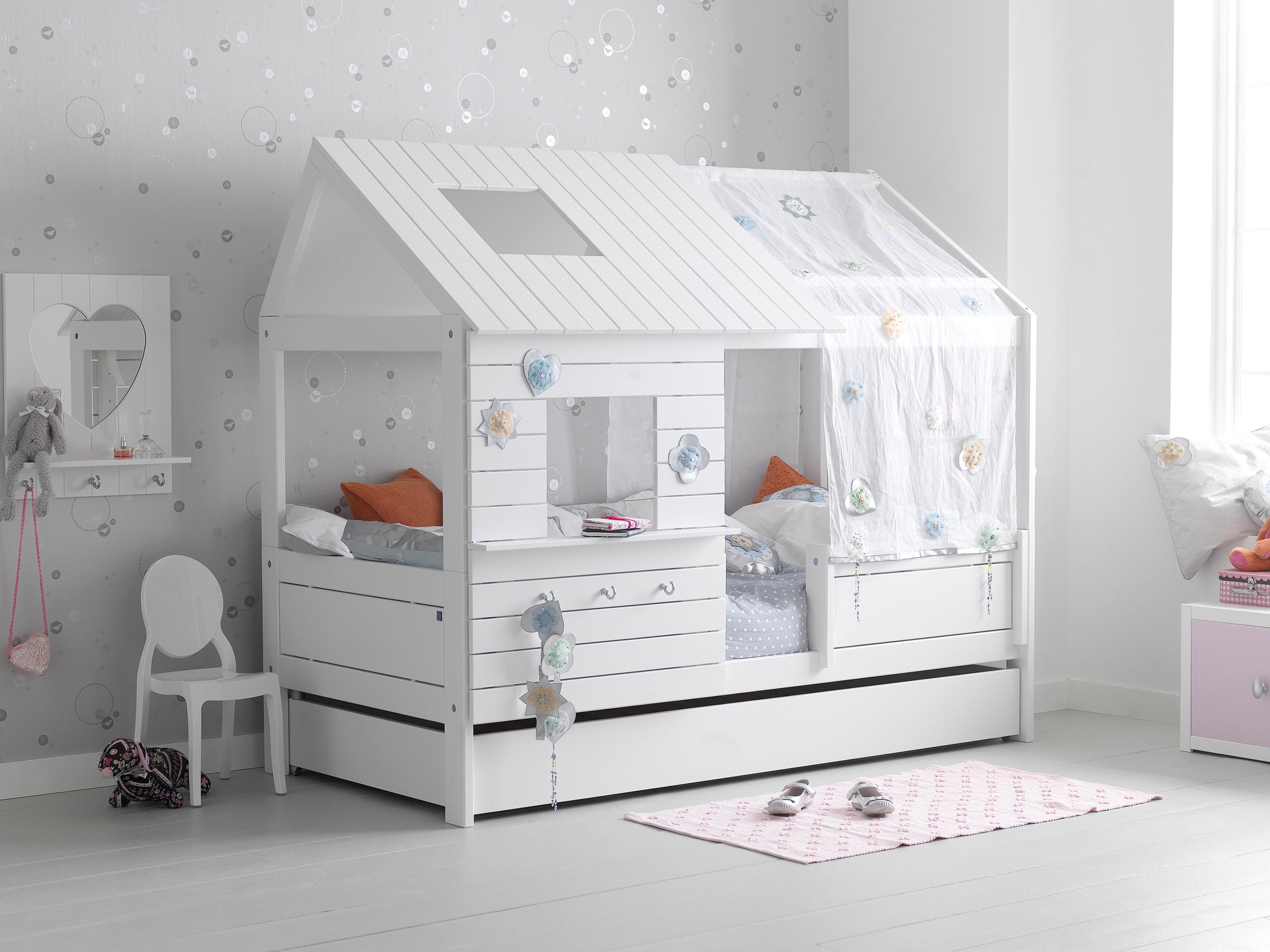 Nordica casetta bianca bassa belv camerette torino - Camerette bambini legno naturale ...