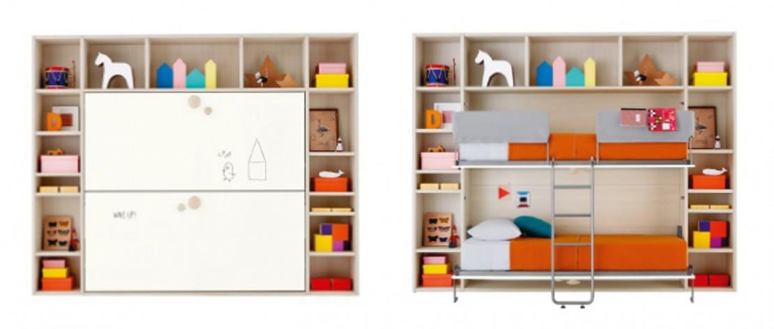 Twilly double letto trasformabile per bambini e ragazzi Belvi camerette Torino