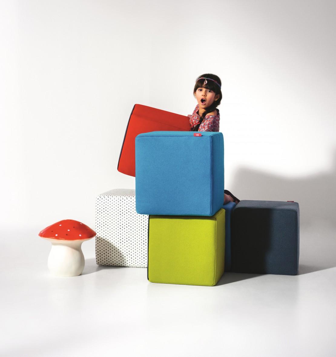 Cube pouf per bambini e ragazzi Belvi camerette Torino