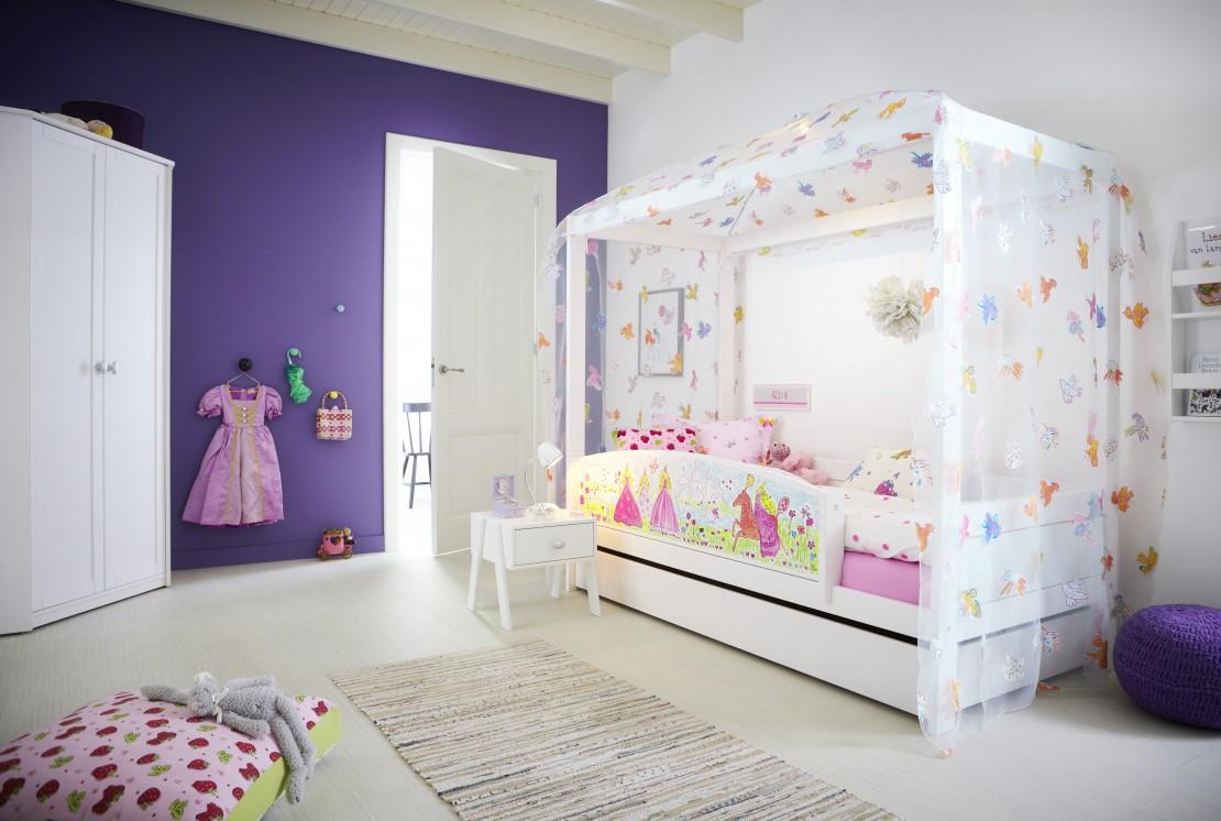 Nordica Tema Papillon letto basso baldacchino per bambine Belvi camerette Torino