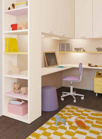 Lux angolo scrivania per bambini e ragazzi Belvi camerette Torino