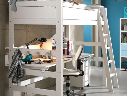 Nordica letto a soppalco con scrivania per bambini Belvi camerette Torino