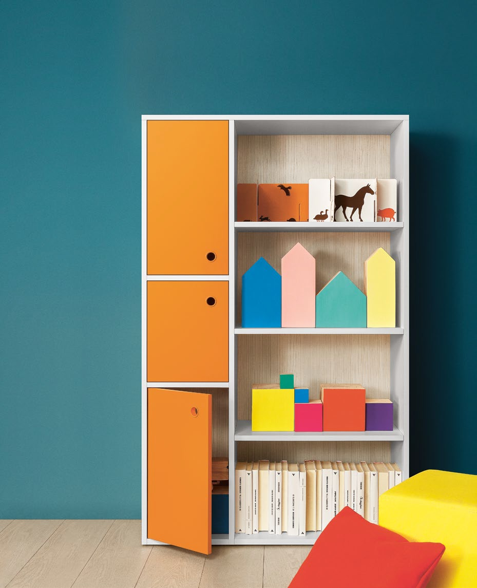 Lux libreria modulare blev camerette torino for Mobile per bambini