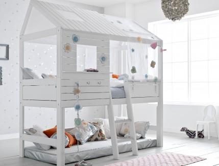 18 Nordica Casetta bianca alta letto per bambini Belvi camerette Torino