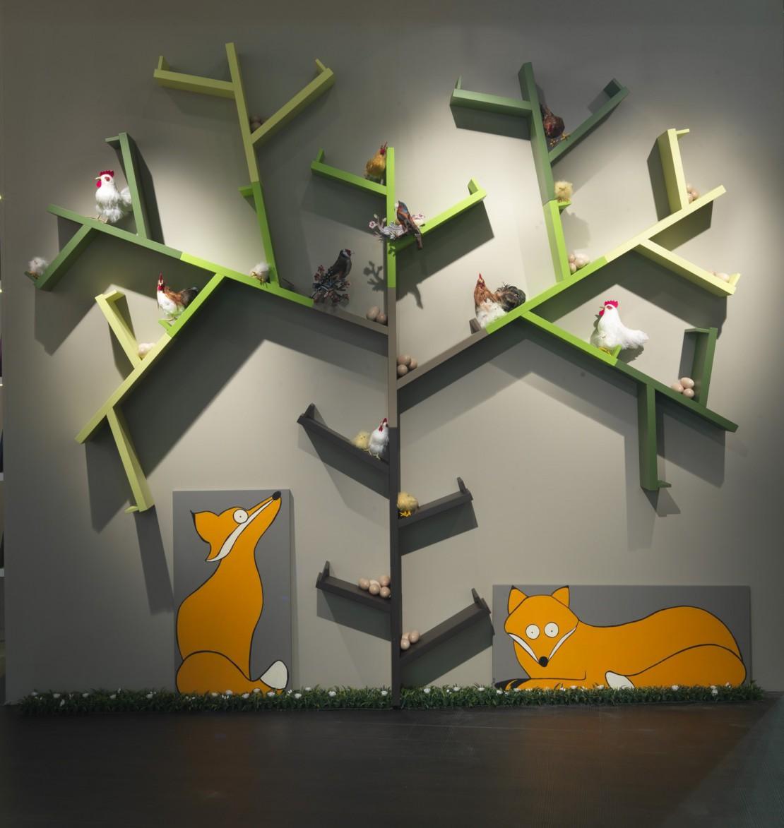 Albero libreria per bambini Belvi camerette Torino