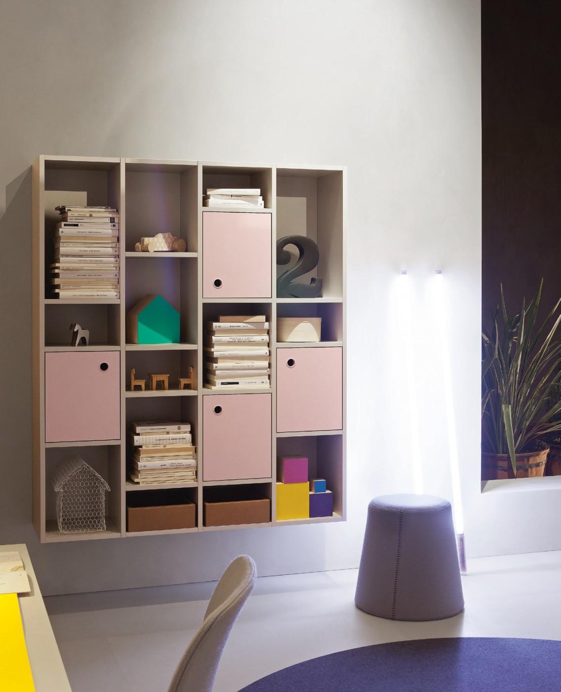 Lux libreria modulare pensile - Belvì Camerette Torino