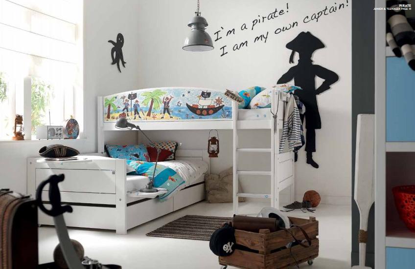 Nordica Tema pirati letto per bambini Belvi camerette Torino (1)