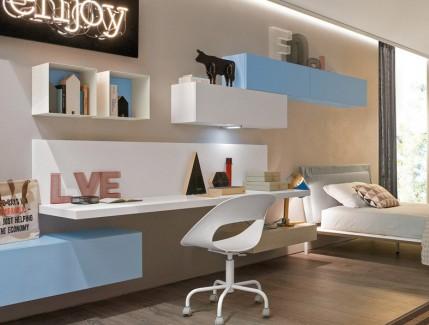 Enjoy scrivania sospesa per ragazzi Belvi camerette Torino