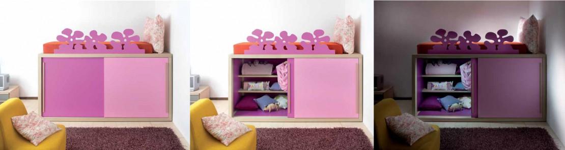 Boxer alto letto e armadio per bambine Belvi camerette Torino