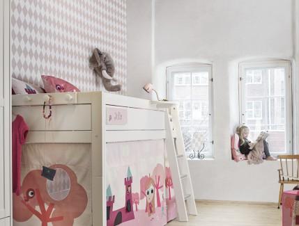 Nordica Tema Little princess alto letto a soppalco per bambine Belvi camerette Torino
