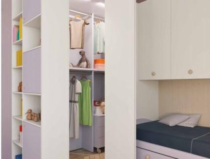 Dimo white cabina armadio per bambini e ragazzi Belvi camerette Torino