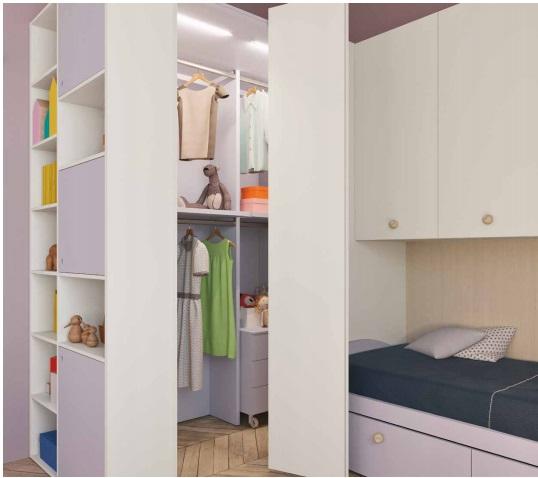Dimo white cabina armadio belv camerette torino for Mobile per bambini