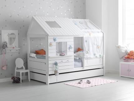 3 Nordica Casetta bianca bassa letto per bambini Belvi camerette Torino