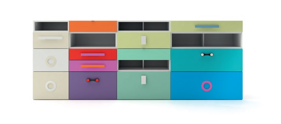 Kubox cassettiere per bambini e ragazzi Belvi camerette Torino