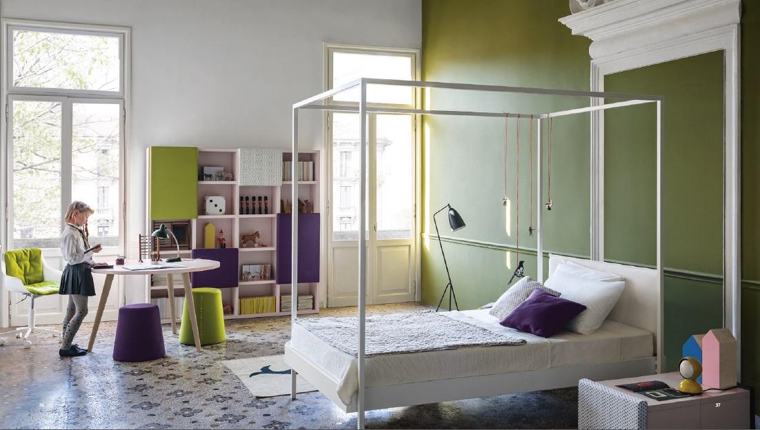 Progetto Zen letto baldacchino per bambine Belvi camerette Torino