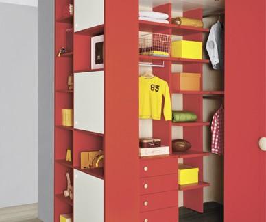 Dimo red cabina armadio per bambini e ragazzi Belvi camerette Torino