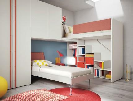 Ponte White letto a soppalco armadiature pensili per bambini Belvi camerette Torino