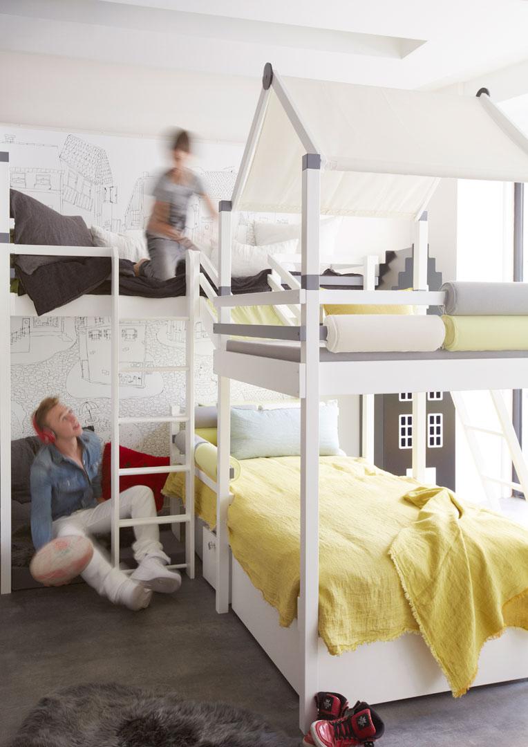 Progetto bianco letto per bambini Belvi camerette Torino