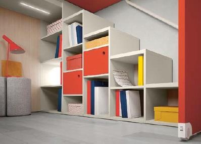 Lux scaletta libreria modulare per bambini e ragazzi Belvi camerette Torino
