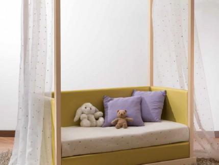 Mini lettino baldacchino per bambine Belvi camerette Torino