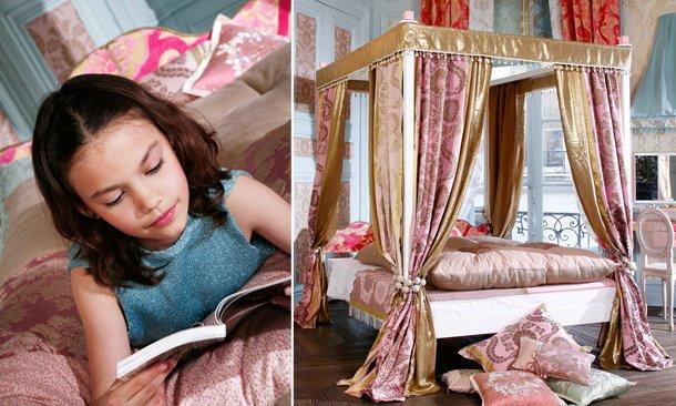 Progetto Paris letto baldacchino per bambine Belvi camerette Torino