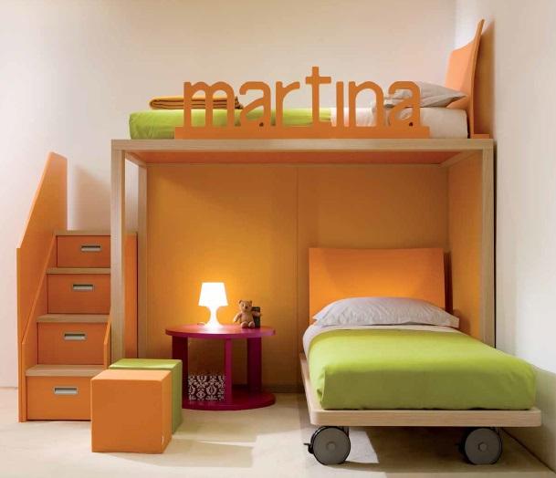 Boxer arancio Cameretta Belvi camerette Torino